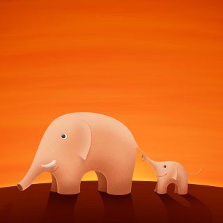 Elephants sfondi gratuiti per iPad Air
