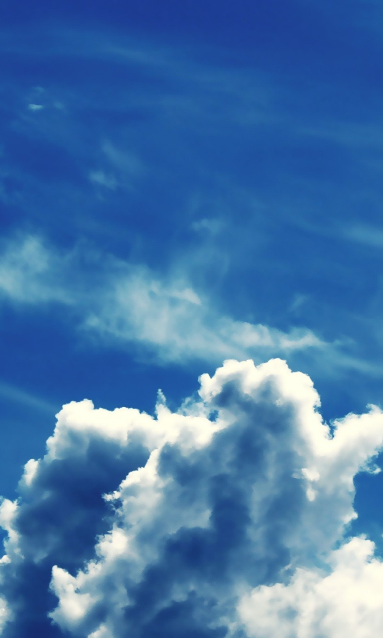Sfondi Blue Sky With Clouds 768x1280