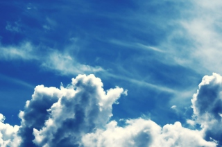 Blue Sky With Clouds Wallpaper for Android, iPhone and iPad