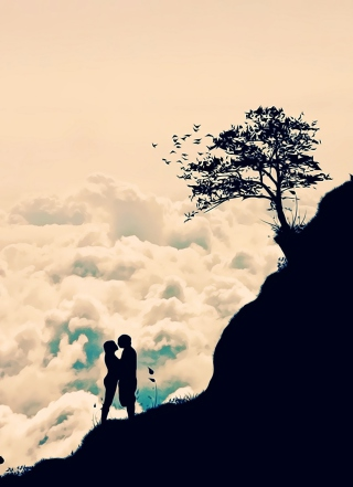 Romance In Clouds Background for Nokia C5-06
