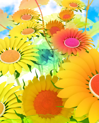 Drawn Daisies Background for Nokia C1-01