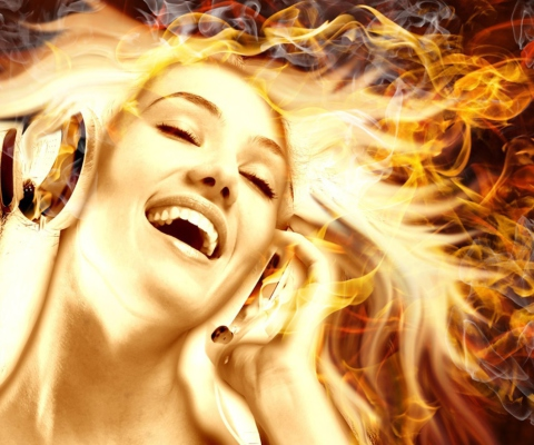 Screenshot №1 pro téma Dj With Fire Hair 480x400