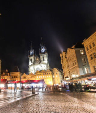 Prague At Night Background for iPhone 6 Plus