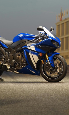 Yamaha R1 Motorcycle wallpaper 240x400