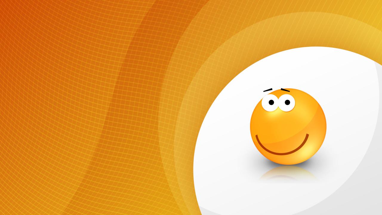 Orange Friendship Smiley