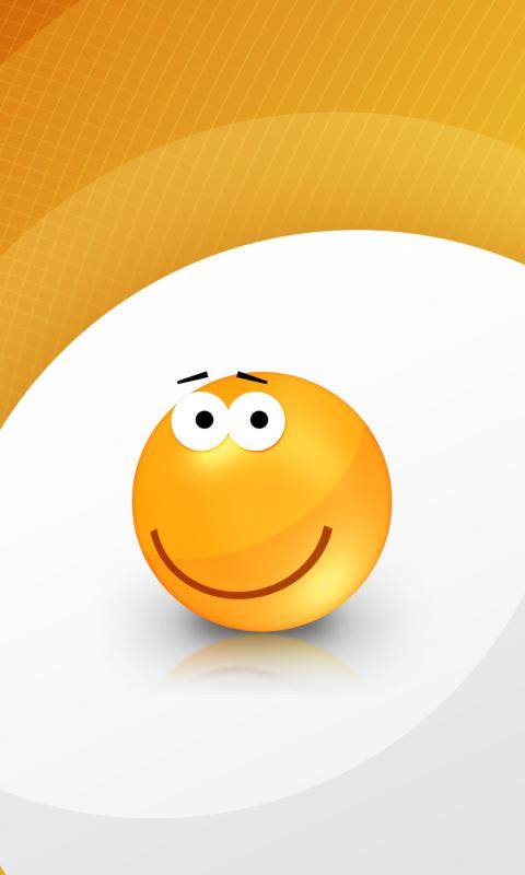 Orange Friendship Smiley per Nokia Lumia 800