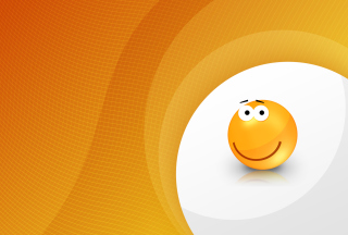 Orange Friendship Smiley Picture for Android, iPhone and iPad