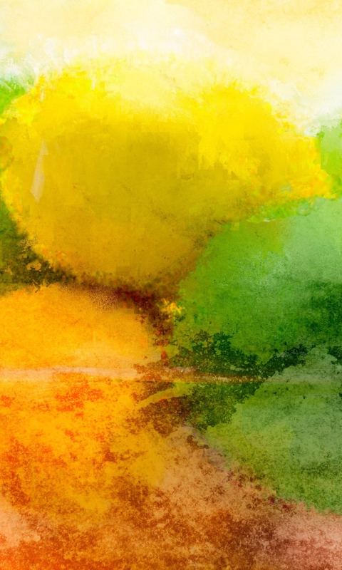 Lemon And Lime Abstract wallpaper 480x800