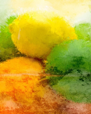 Free Lemon And Lime Abstract Picture for 480x800