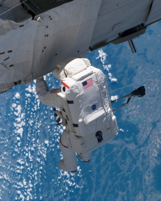 Astronaut At Work Wallpaper for iPhone 6 Plus