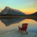 Screenshot №1 pro téma Wooden Chair With Pieceful Lake View 128x128