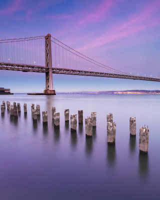 San Francisco Bay Bridge Wallpaper for iPhone 5