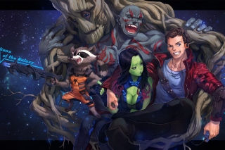 Strange Tales with Gamora and Drax the Destroyer - Obrázkek zdarma pro 800x480