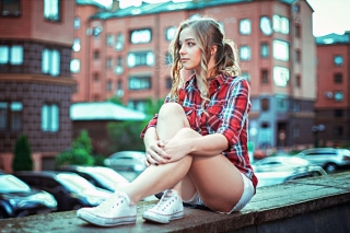 Beautiful Woman in Shorts from Norway - Fondos de pantalla gratis