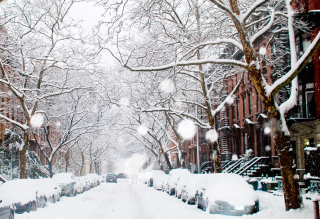 Winter On New York Streets - Fondos de pantalla gratis para Samsung Galaxy S6 Active
