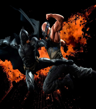 Batman VS Bane Background for iPhone 5C