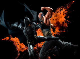 Free Batman VS Bane Picture for Android, iPhone and iPad