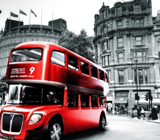 Retro Bus In London sfondi gratuiti per iPad Air