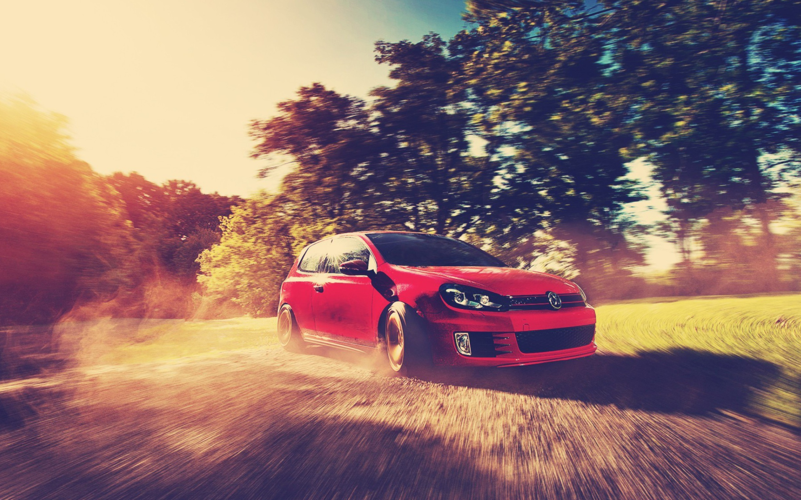 Screenshot №1 pro téma Red Golf Gti Drift 2560x1600