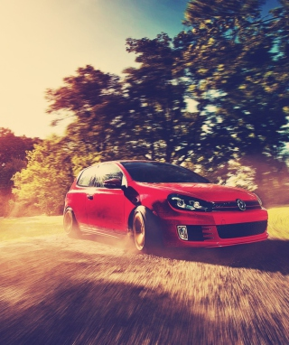 Free Red Golf Gti Drift Picture for Nokia C5-06
