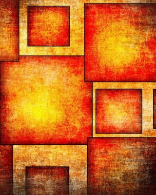 Orange squares patterns Wallpaper for HTC Titan