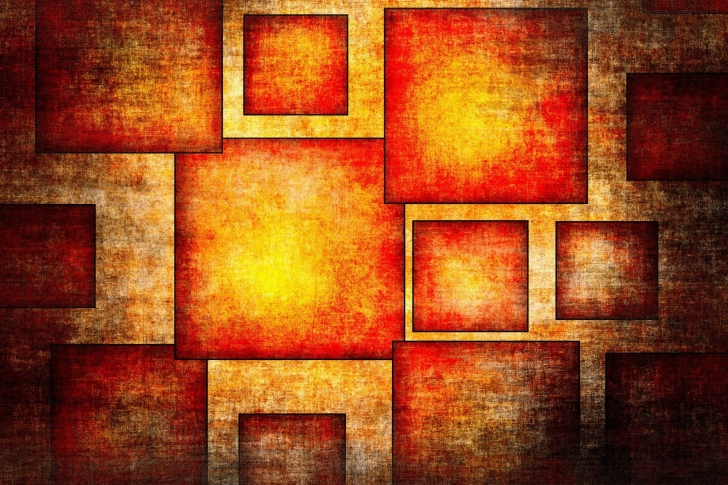 Orange squares patterns wallpaper