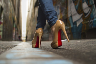 High Heels On Street Background for Android 480x800