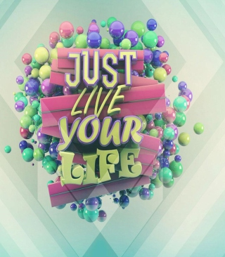 Free Just Live Your Life Picture for Nokia C1-01