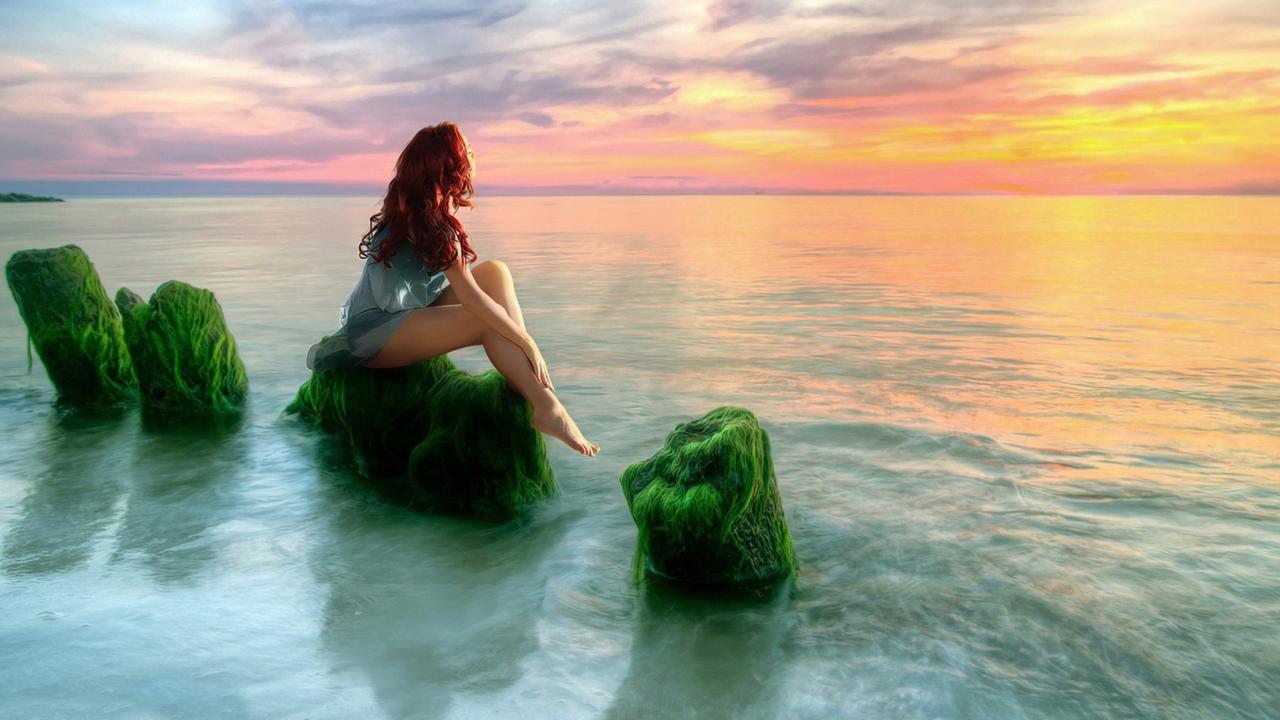 Mermaid On Stone
