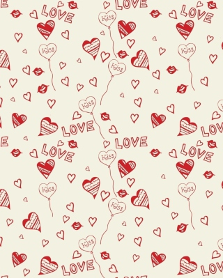 Love And Kiss Background for Nokia Asha 300