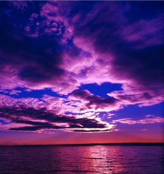 Purple Sunset sfondi gratuiti per iPad Air