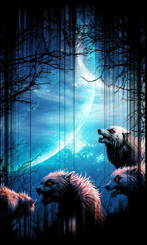 Sfondi Wolverines At Night 480x800