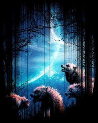 Wolverines At Night sfondi gratuiti per iPhone 4S