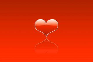 Red Heart Background for Android, iPhone and iPad