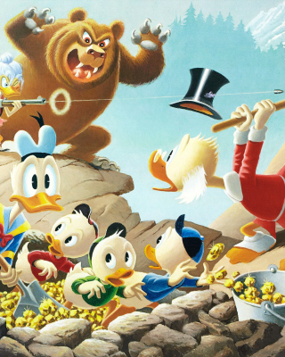 DuckTales, Scrooge McDuck, Huey, Dewey, and Louie Background for iPhone 6 Plus