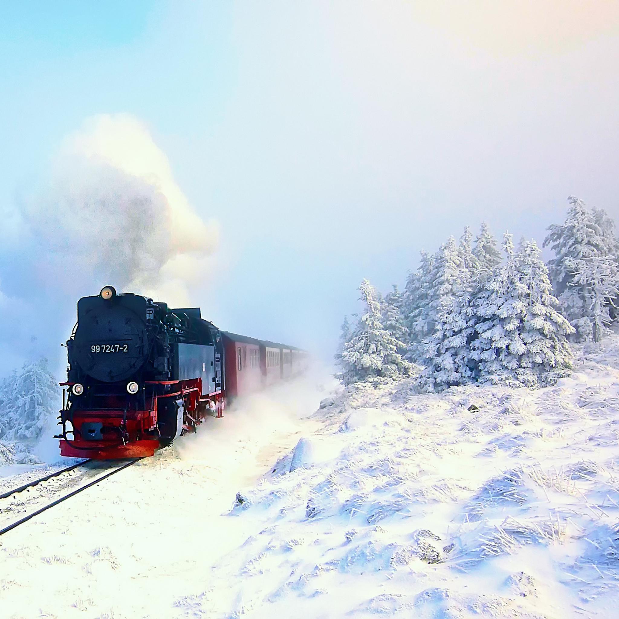 железная дорога снег railway snow скачать