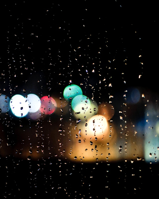 Raindrops on Window Bokeh Photo sfondi gratuiti per HTC Pure
