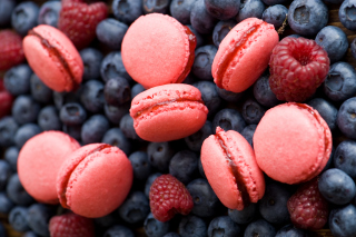 Berries Macaron Picture for Android, iPhone and iPad