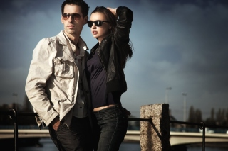 Couple portrait papel de parede para celular para Widescreen Desktop PC 1600x900