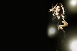 Girl In Black - Fondos de pantalla gratis para Sony Xperia Tablet S
