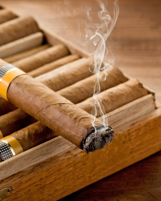 Cuban Cigar Cohiba Wallpaper for 176x220