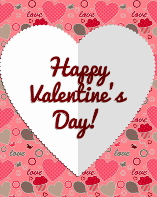 Happy Valentine Day Greeting sfondi gratuiti per 352x416