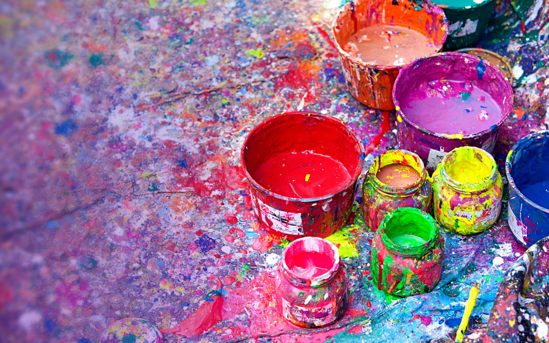 Paintings for Holi Festival Wallpaper for Widescreen ...