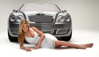 Posh Bentley Model Wallpaper for Android, iPhone and iPad