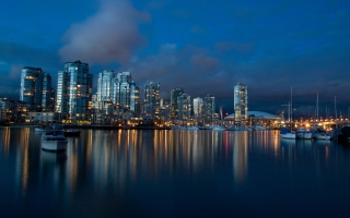 Vancouver Night sfondi gratuiti per cellulari Android, iPhone, iPad e desktop