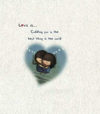 Love Is Cuddling papel de parede para celular para Nokia C-Series