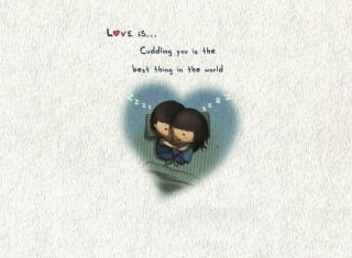 Love Is Cuddling Wallpaper for HTC Desire HD
