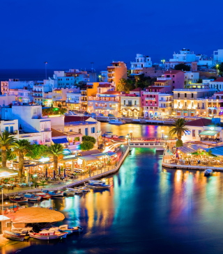 Crete - Agios Nikolaos Background for 480x640