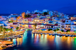 Crete - Agios Nikolaos Background for Widescreen Desktop PC 1680x1050