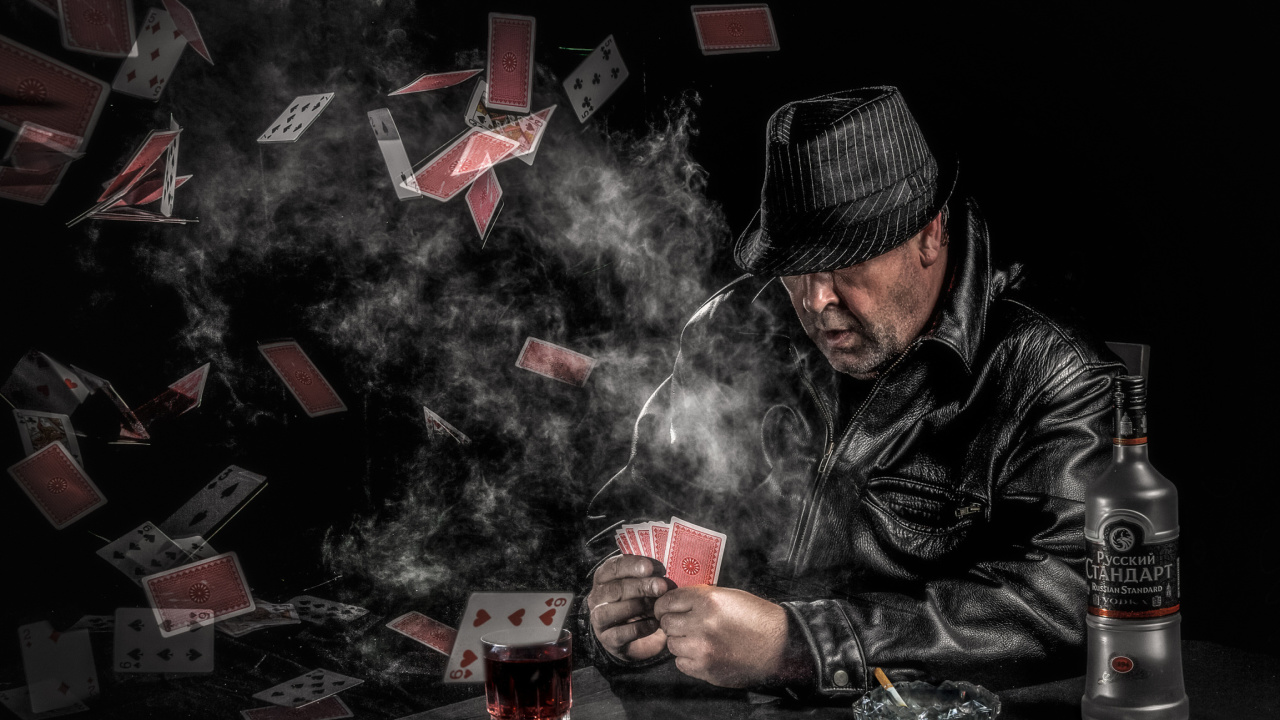 Gambler with vodka wallpaper 1280x720